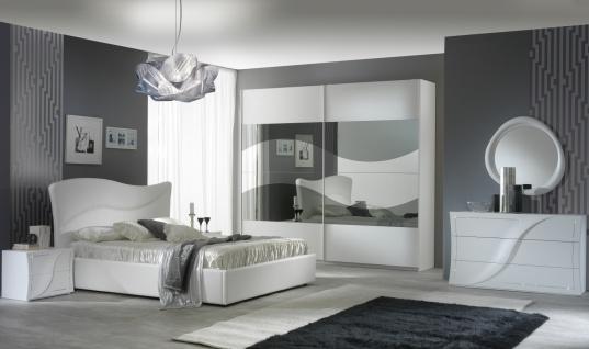 Design Schlafzimmer Set in Weiß Auralia 4-teilig