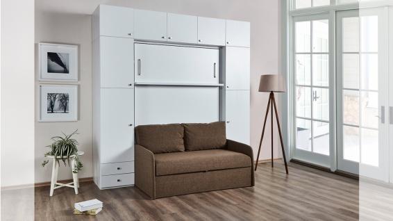 Wandklappbett 140x200 Diva Double mit Couch