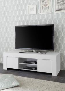 TV Unterschrank in Weiß matt Lack Fire