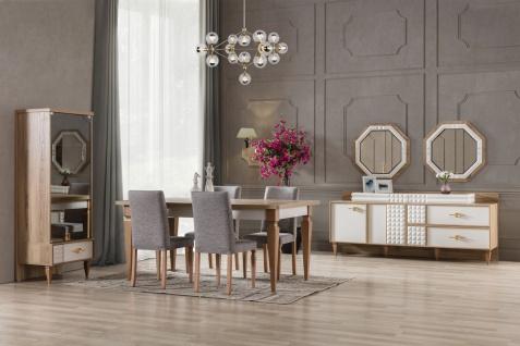 Esszimmer Stuhl Venic 6er Set in Grau teilmassiv - Vorschau 3