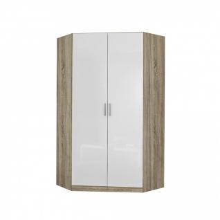 Eckschrank CELLE weiß / Eiche Sonoma 117 x 197 x 117 cm