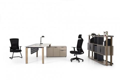 Ovali Schreibtisch 3-teilig Twist L3 mit Transportschäden