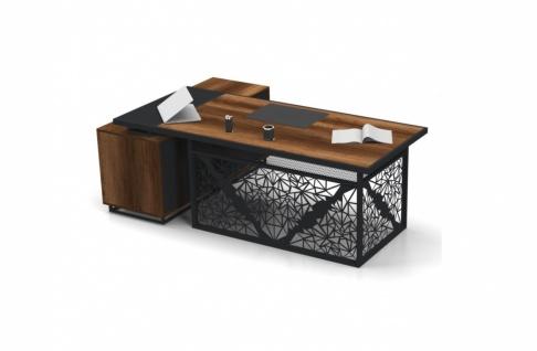 Design Büroschreibtisch Kafes L-Form