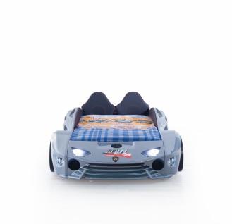 Autobett mit Bluetooth in Silber Drift mit LED USB und Sound