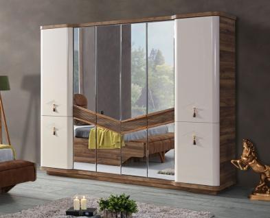 Lidya 6-türiger Kleiderschrank Panama mit Spiegel