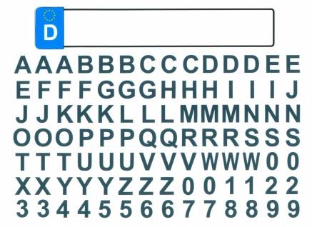 Kfz Kennzeichen mit Buchstaben Deutschland