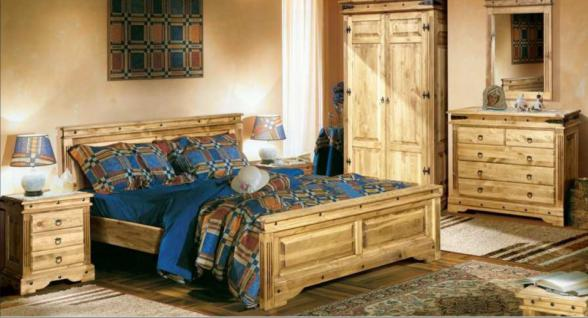 Schlafzimmerset Wiking Kiefer massiv 4-teilig