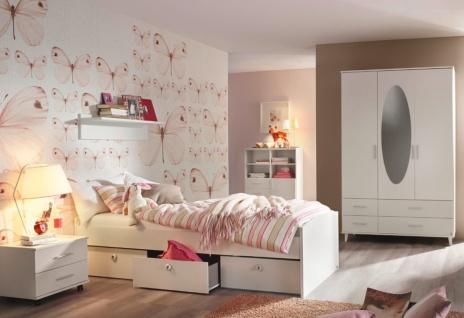 Jugendzimmer komplett Alpinweiß Set Aik 3-teilig