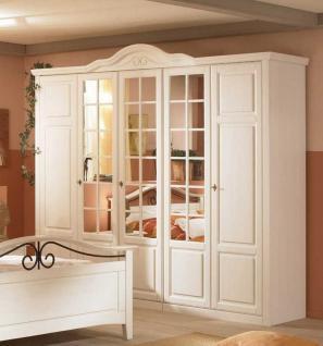 Kleiderschrank Joana in Pinie Weiß 4 Türen