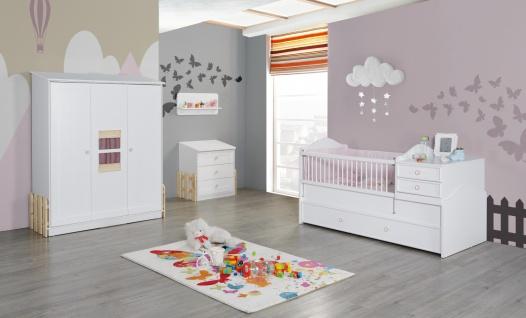 Babyzimmer Set Weiß Rosa Homeland 4-teilig - Vorschau 1
