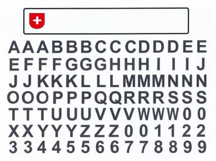Kfz Kennzeichen mit Buchstaben Schweiz