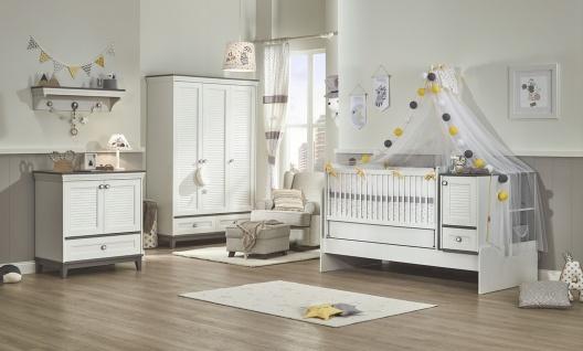 Almila Babyzimmer Set 4-teilig Mia mit Schaukelbett