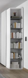 Design Anstellregal mit fünf Böden Grau Space