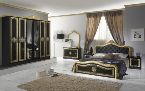 Schlafzimmer in Schwarz Christina mit 6-türigem Schrank