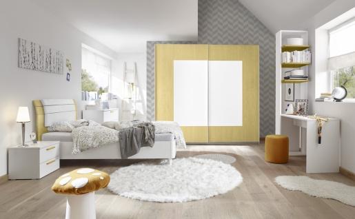 Design Jugendbett Space Kopfteil Gelb 90x200