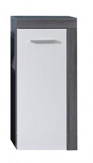 Kommode Colombo 1-türig in Silber Weiß