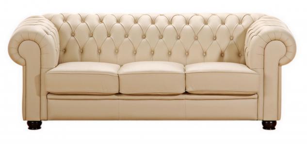 Sofa 3-Sitzer Chandler Kunstleder, verschiedene Farben