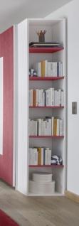 Design Anstellregal mit fünf Böden Rot Space