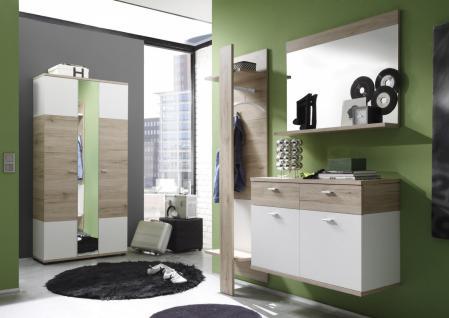 4-teiliges Garderoben Set Rikke Eiche Optik - Vorschau 2