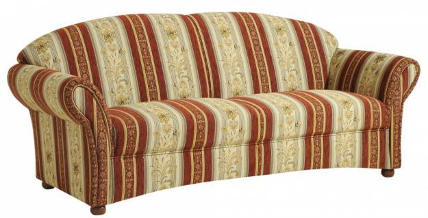 Sofa S-2, 5 Corona Flachgewebe, rot