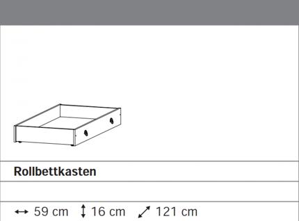 Rollbettkasten grau-metallic