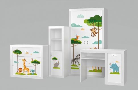 Kinderzimmer Set Phil Animals Weiß 4-teilig