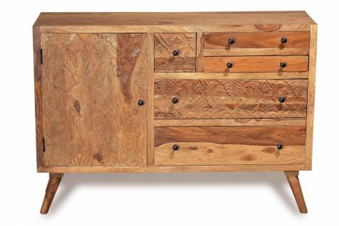 Sit Sideboard Carved Sheshamholz Natur
