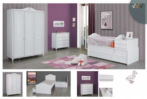 Babybett in Weiß Goldi mitwachsend 80x130-180 - Vorschau 3