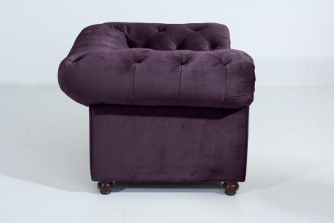 Sessel Orleans Samtvelours, purple
