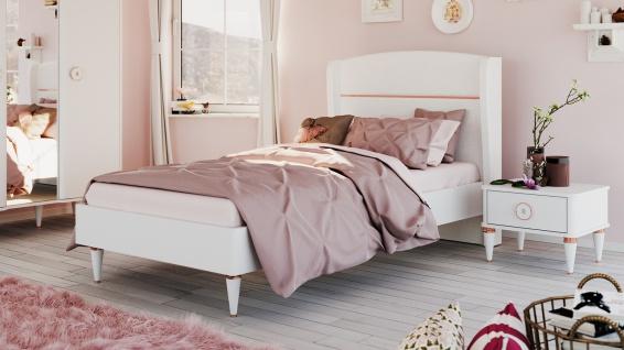 Kinderbett Bella in 100x200 Weiß Gold