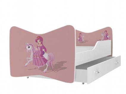 Kinderbett Miri mit Bettkasten 70x140 Princess