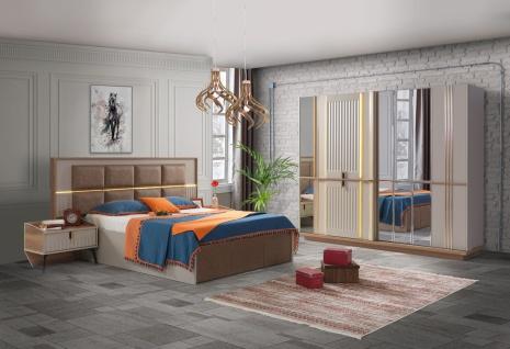 Schlafzimmer Set Alanza mit Stauraumbett & LEDs