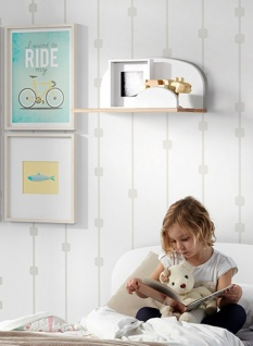 Kid Wandregal Weiß 45x25x22