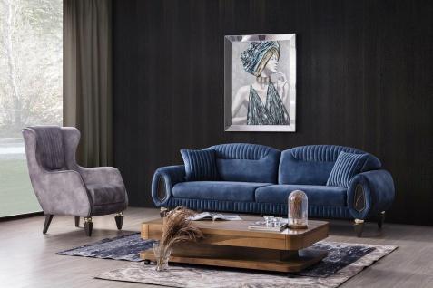 Kleines Sofa Set Lizbon mit Ohrensessel und Schlafsofa