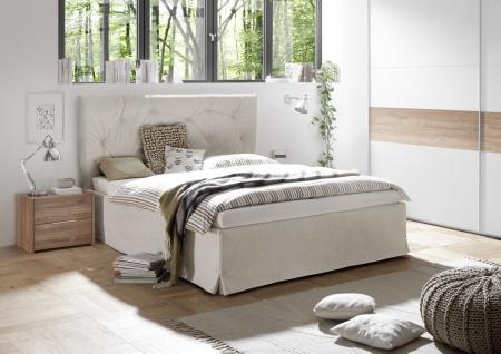 Modernes Bett Kunstleder Natur Luana Alpaca 180x200