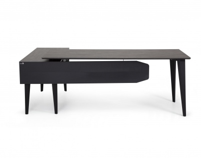 Ovali Design Büroschreibtisch 2-teilig Snap 160x80 cm