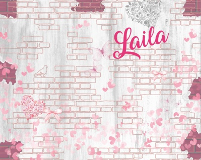 Kinderteppich in Rosa Laila Backstein Optik 180x120
