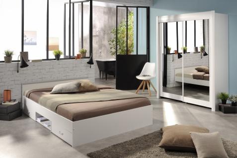 Parisot Celebrity Schlafzimmer Set in Weiß 204x207x61