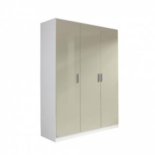 Drehtürenschrank CELLE sandgrau / alpinweiß 136 x 210 x 54 cm - Vorschau