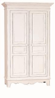 Kleiderschrank Rhois mit 2 Türen in Weiß