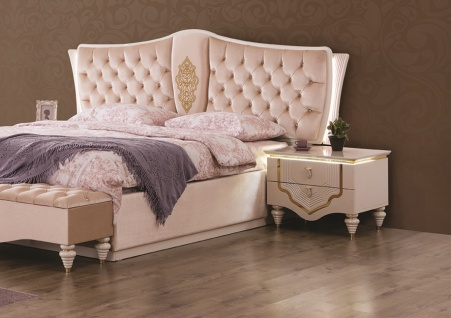 nachtschr nke annelore barock stil wei gold kaufen bei m bel lux. Black Bedroom Furniture Sets. Home Design Ideas