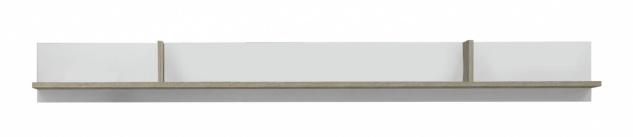 Modernes Wandregal Nari Weiß Eiche Optik