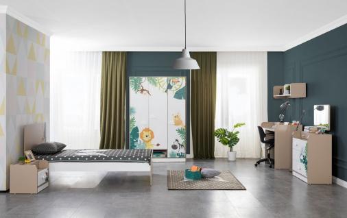 Titi Kinderzimmer Set Safari 5-teilig Einzelbett