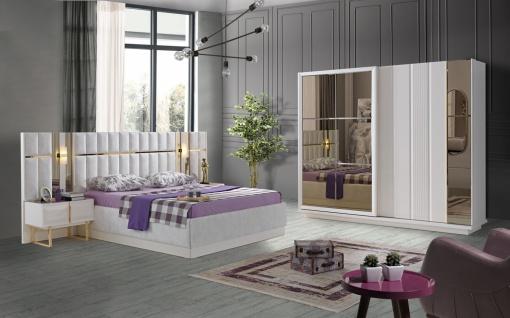 Lidya Schlafzimmer Set Pianno mit Bett in 180x200 cm