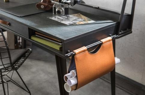 Cilek Dark Metal Schreibtisch mit Aufsatz klein 114x62