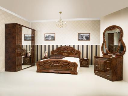 Schlafzimmer-Set Esperanza 4-teilig Walnuss