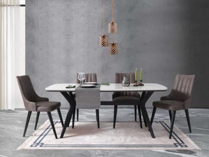 Esszimmer Tischgruppe Yilma mit 4er Set Stühlen