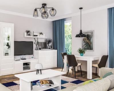 Neman Wohnzimmer komplett Palermo Weiß