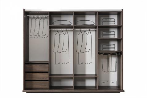 Design Schlafzimmer Set Grau Braun Aral 4-teilig - Vorschau 3