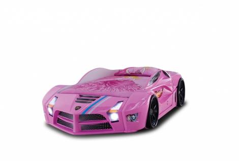 Autobett Luxury Standard in Pink mit LED Scheinwerfern und Sound